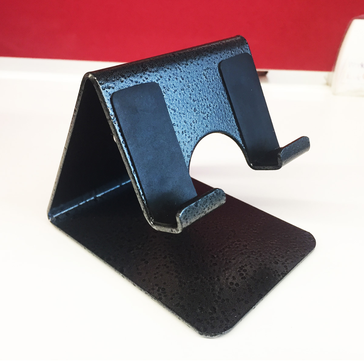 Photuprint Mobile Phone Metal Stand / Holder For Smartphones and Tablet   Antique Silver  Proudly MADE IN INDIA