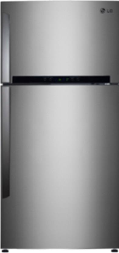 LG 495 L Frost Free Double Door Refrigerator  GL T542GNSL, Noble Steel