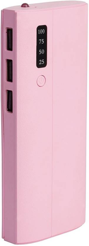 OMNITEX percentage indicator in p3 model 10000 Mah Power Bank  pink