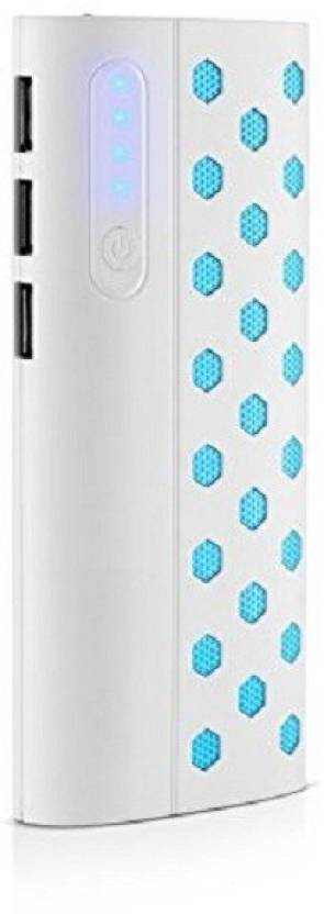 OMNITEX new dotted portable battery charger 13000 Mah Power Bank  White