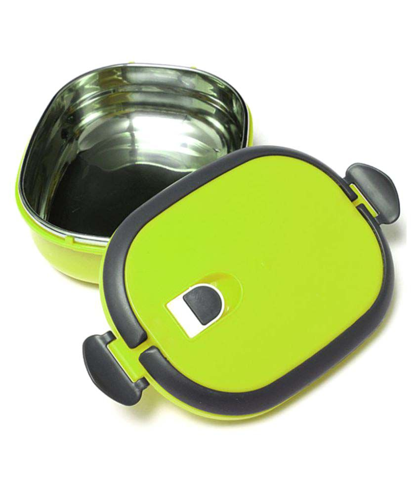 Tuelip Homio Oval Single Layer Lunch Box 900ML Inner Stainless Steel   Green