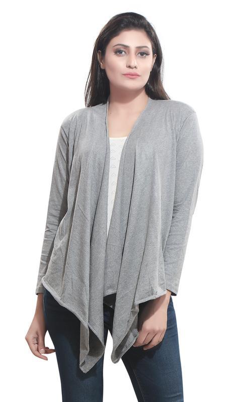 Bfly Women's Viscose Shrug  Grey