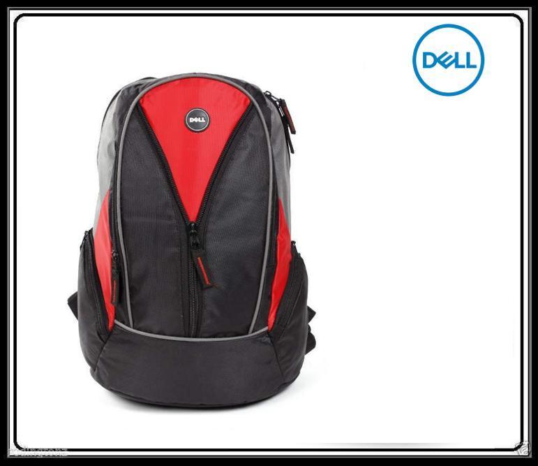 Dell 15.6 inch Laptop Backpack Bag   Black +Red