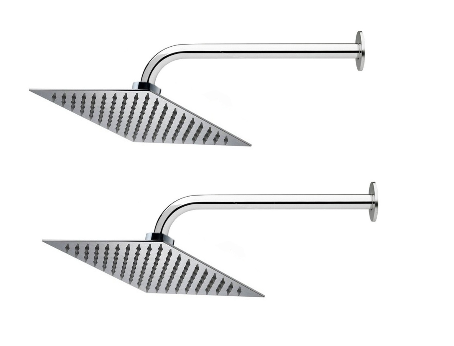 Prestige 8x8 Ultra Slim Rain Shower Head with 15inch Round Arm  Pack of 2