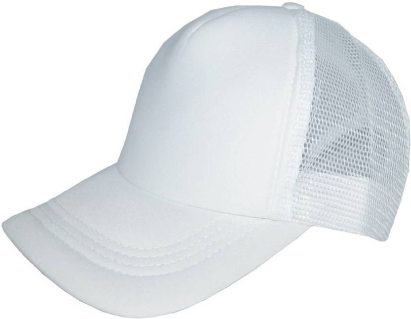 XTR Solid Polo Netted Baseball Hat Cap  WHITE