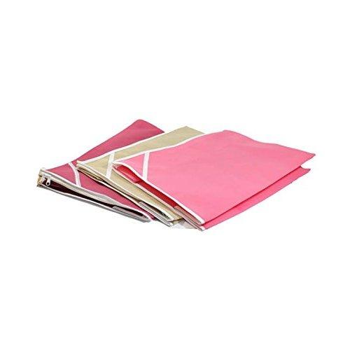 Fashion Bizz Non woven Saree cover Set of 3 Pcs /Wardrobe Organiser/Regular Clothes Bag