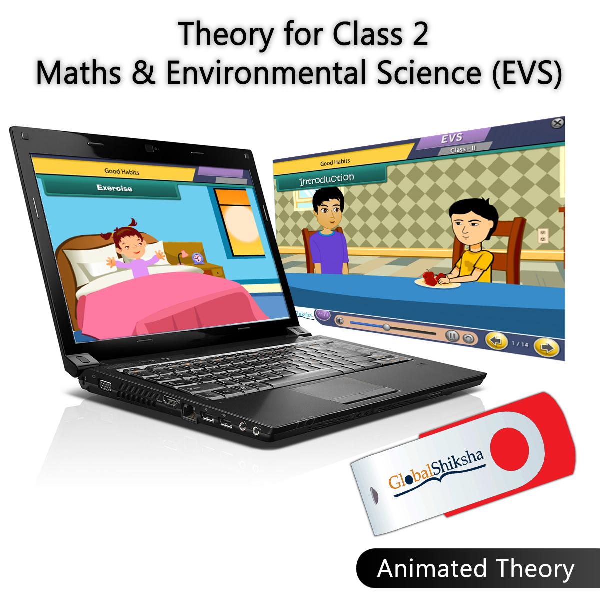 Globalshiksha CBSE 2 Maths & EVS (Online Course)