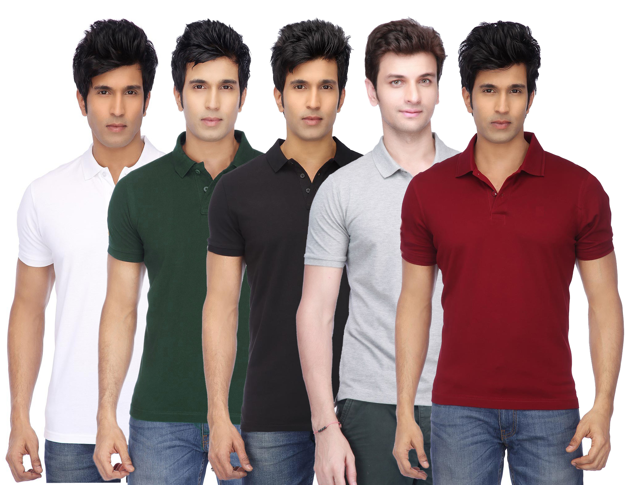 K TEX Mens Multicolor Cotton Blend Gyming Tshirt Pack of 5