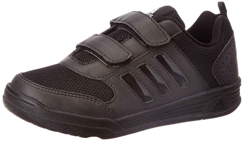 Adidas Boys Flo K Black Velcro School Shoes