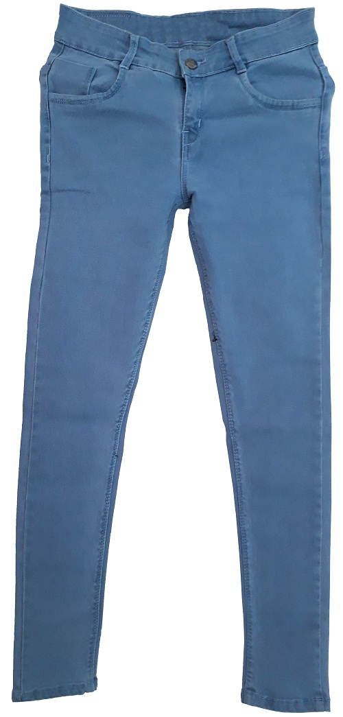Light blue plaine women denim jeans