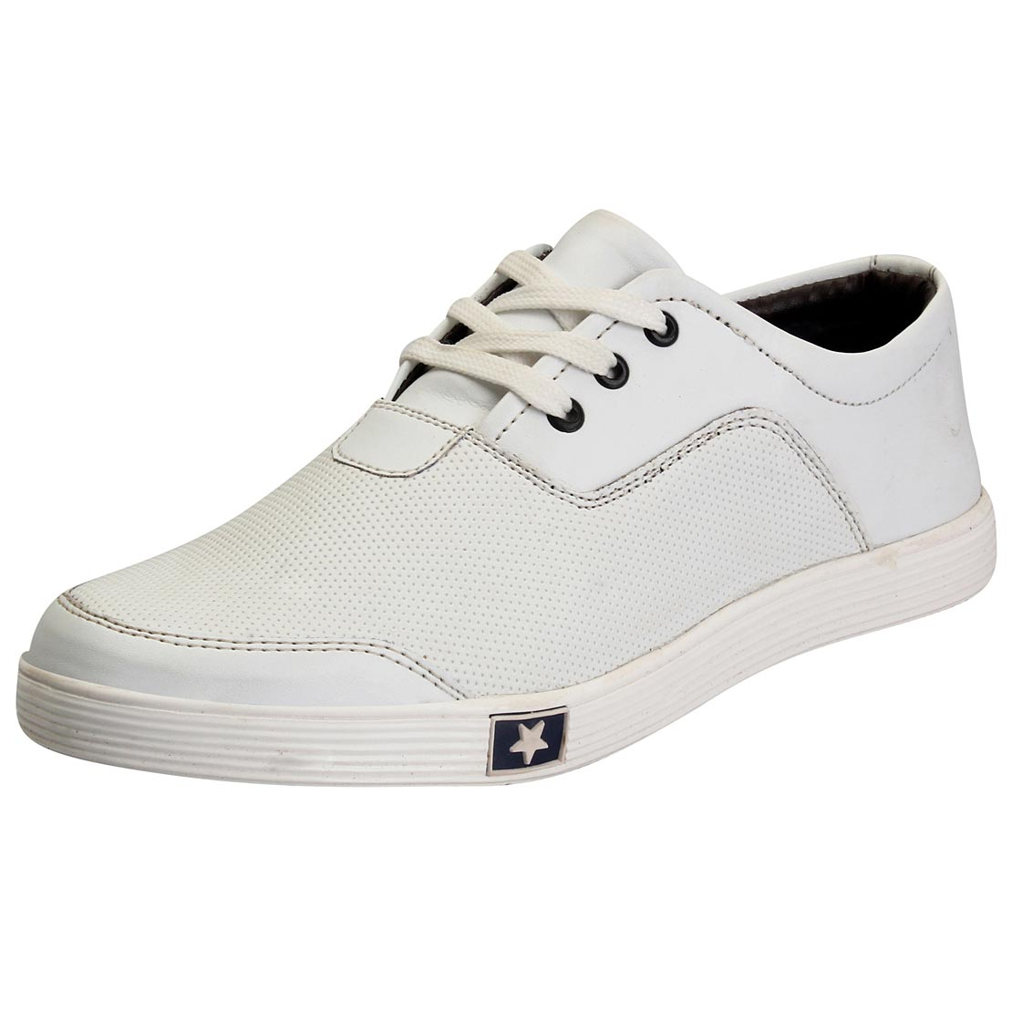 FAUSTO White Men\'s Casual Sneakers