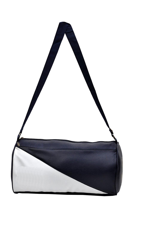 CP Bi gbasket Stylish Leather Rite Duffel Sport Travel Gym Bag  Navy Blue, Kit Bag