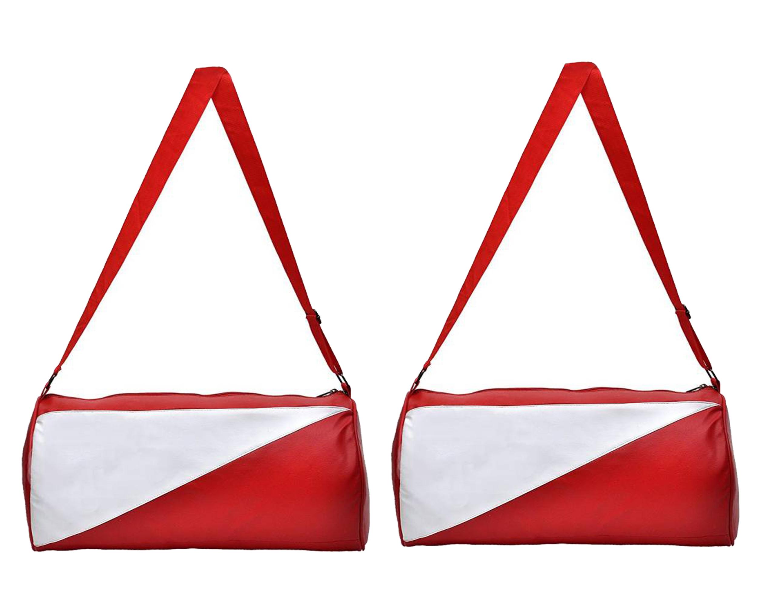 CP Bi gbasket Pack of Two  2  Football Club Gym Bag Duffle Bag Travel Bag  Leatherite,Size 30L
