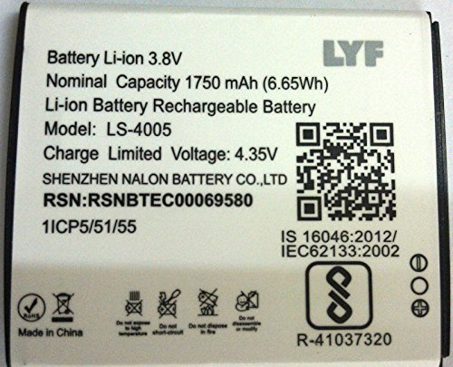 Reliance Jio LYF Flame 6 Li Ion Polymer Replacement Battery LS 4005 by Snaptic