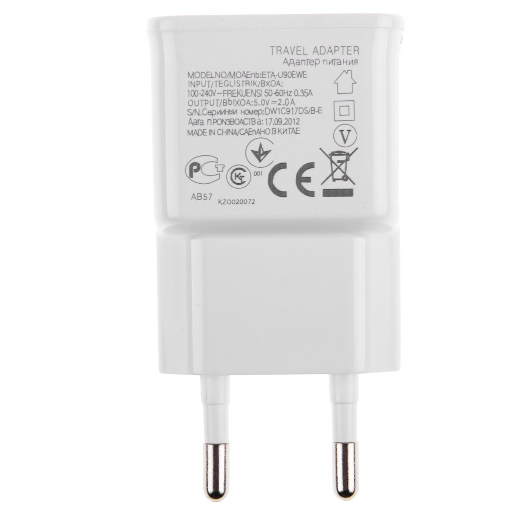 Futaba 5V 2.0A 3 USB Ports Charger Power Adapter for Samsung Galaxy S5 Note 4   White