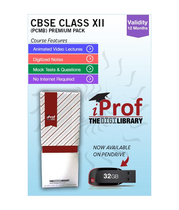 IProf's  CBSE Class 12 PCMB Premium Pack On Pen-Drive [CLONE] - 5482132