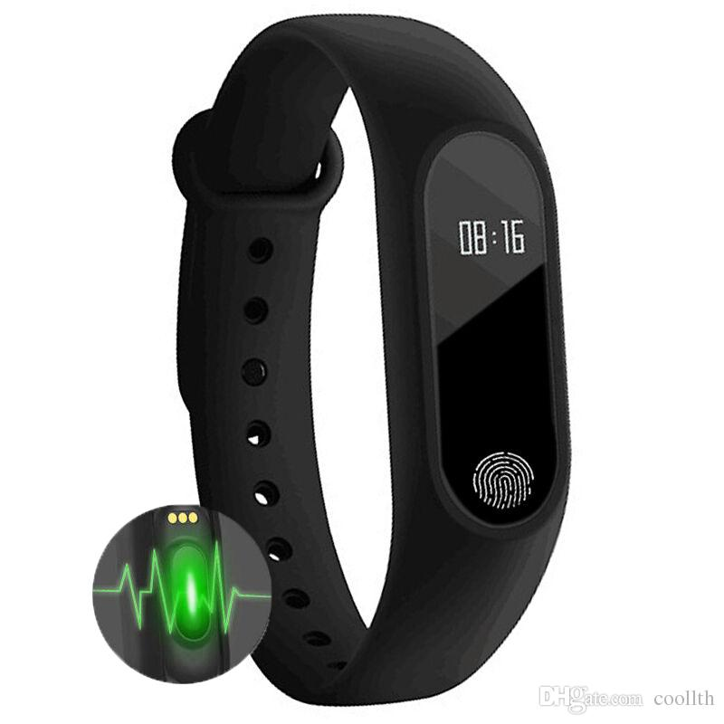 Fitness belt M2 Smart Bracelet Heart Rate Monitor bluetooth Smartband Health Fitness Tracker with oled diplay