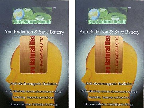 Pack of 2 sticker for mobiles/tablets/laptops/wifi  Gold    Electro Magnetic Radiation  EMR  neutral