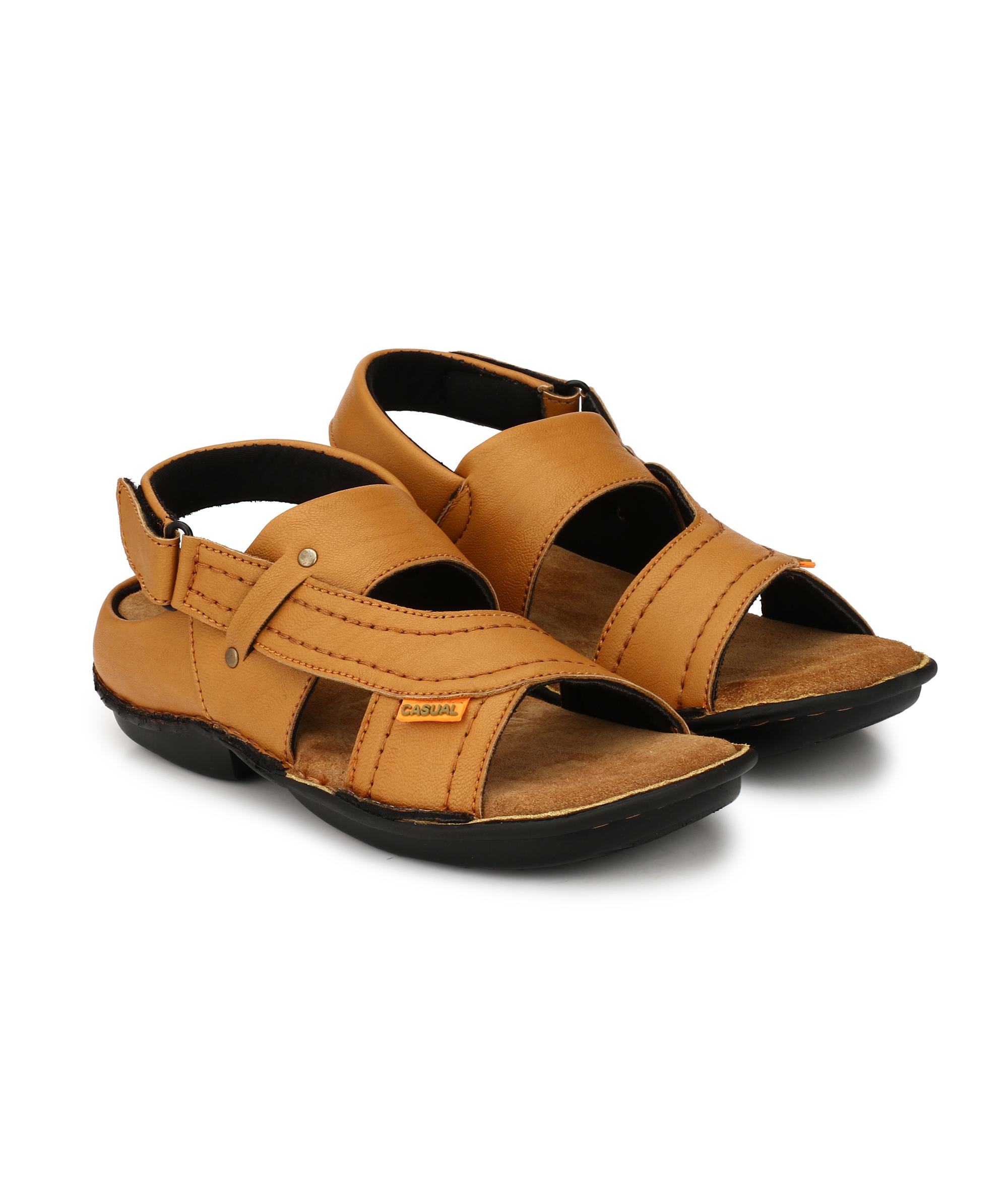 cbb509ac94db Drake Men s Tan Valcro Nubuck Leather Sandals