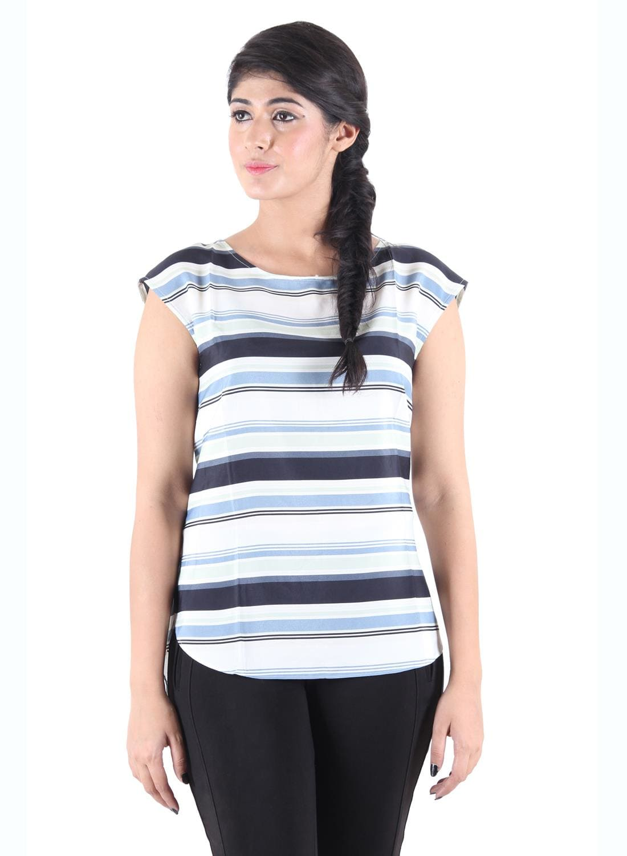 Kotty Casual Sleeveless Printed Women\'s Black Top