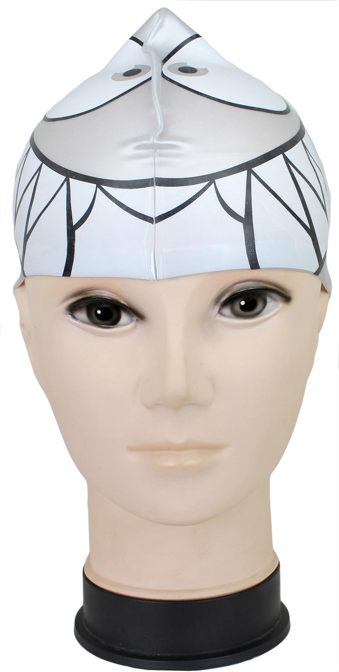 Neska Moda Premium Grey Full Head Cover Unisex Silicon Swimming Cap Swim42
