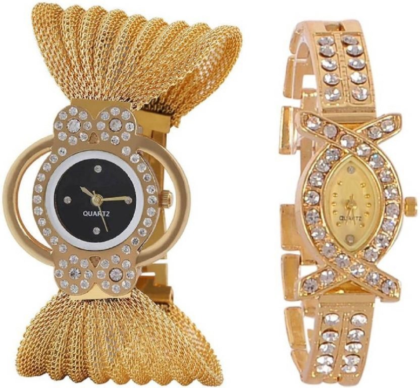 women's watch Newly Arrival Special Unique Choice Collection Gift Offer At Low Price Combo Analog Watch   For Women