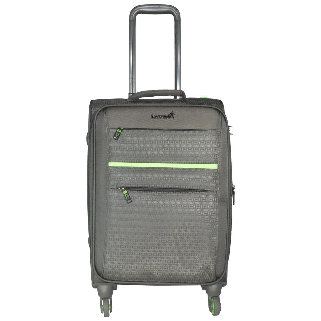 Traworld Jupiter 1003 20 inch 4 Wheel Trolley Bag   Grey