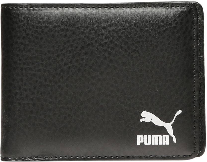 Puma Men Black Artificial Leather Wallet 6 Card Slots  Synthetic leather/Rexine