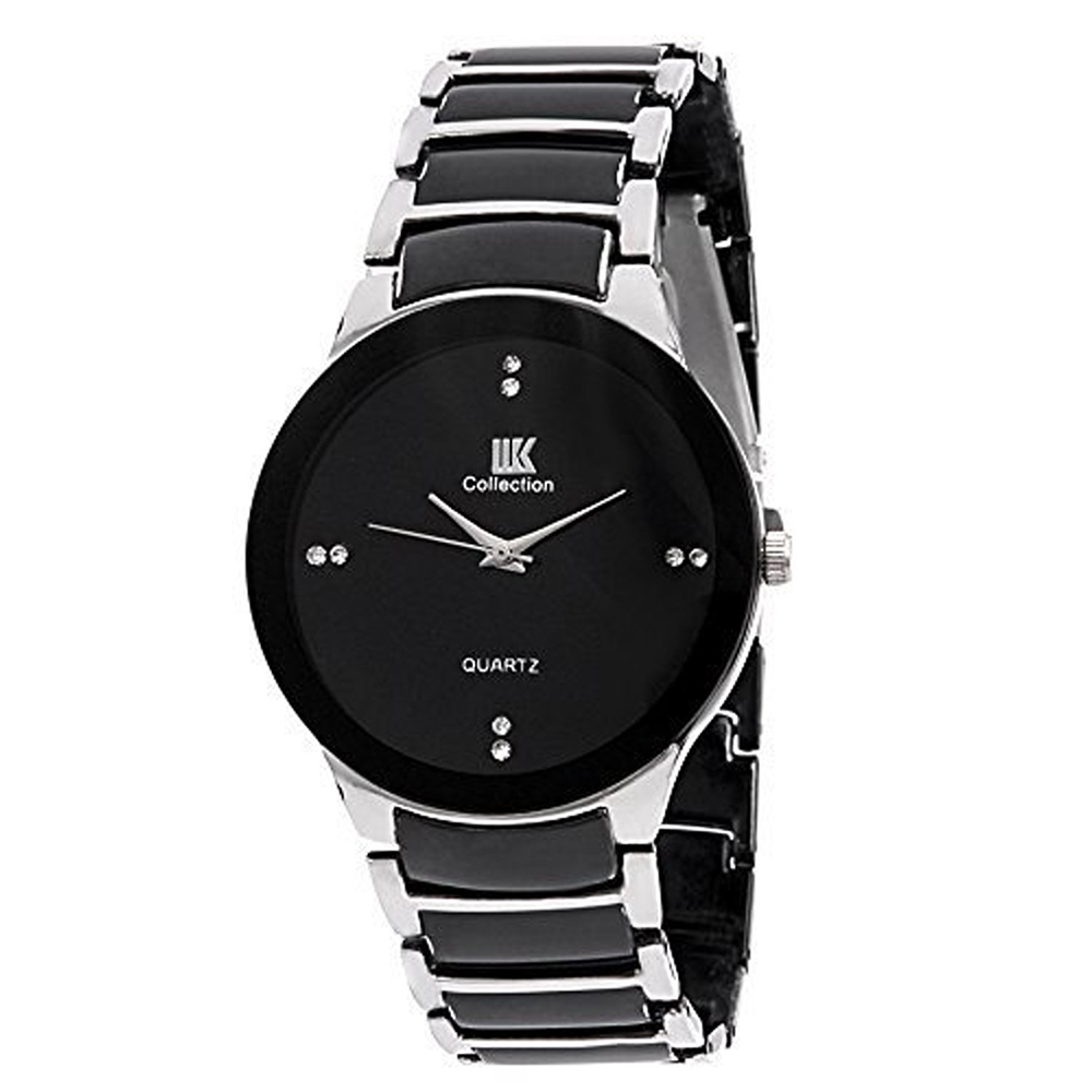 Iik Collection silver Black Analog Black Dial Men's Watch