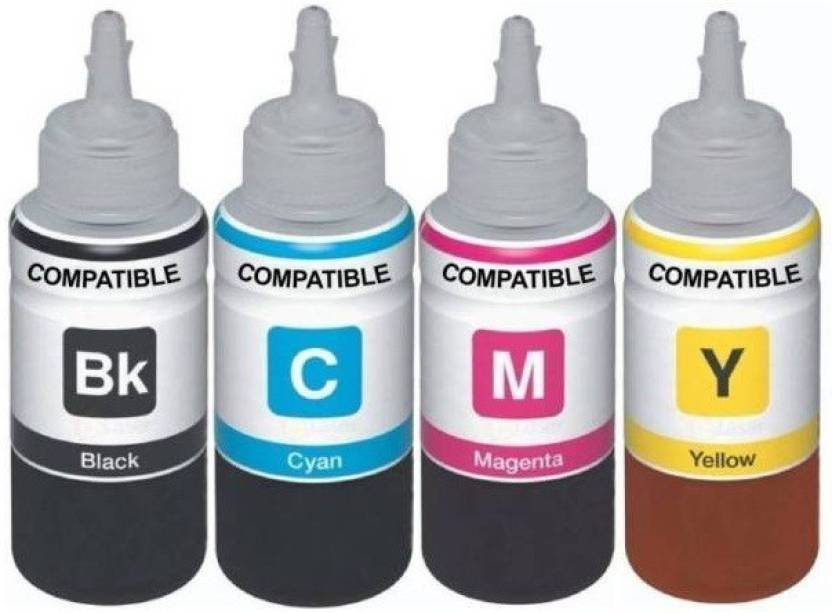 AQUAJET Refill Compatible For HP InkJet Cartridges CISS All Colors   100 Each Bottle Multi Color Ink