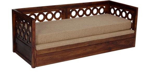 Elegant Solidwood Brown Sofa Cum Bed