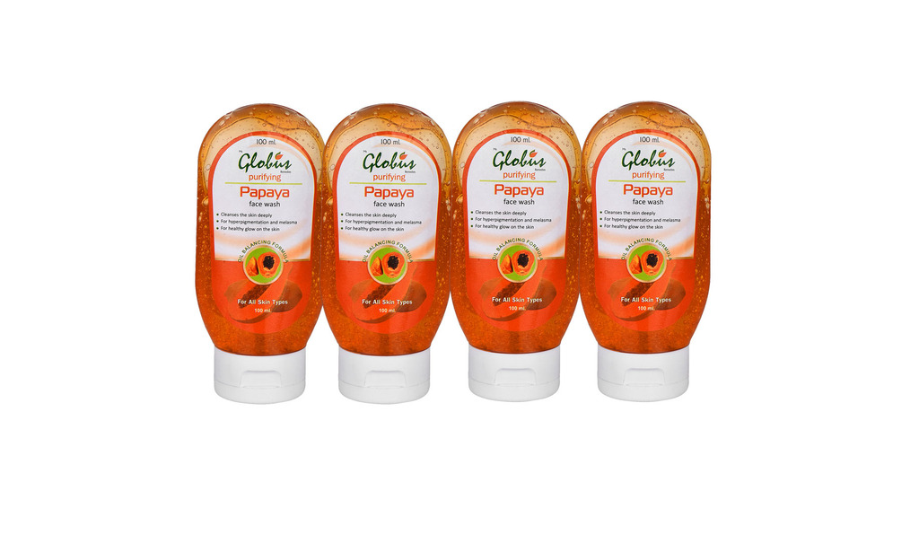 Globus PAPAYA PURIFYING Face Wash Pack of 4