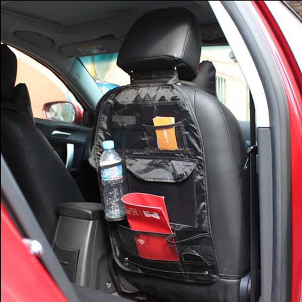 Insasta Multi Pocket Car Back Seat Hanging Storage Bag Organiser Black