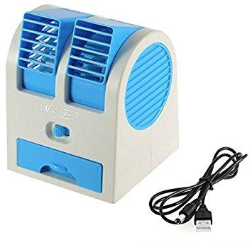 G MTIN Mini Small Fan Cooling Portable Desktop Dual Bladeless water Air Cooler USB
