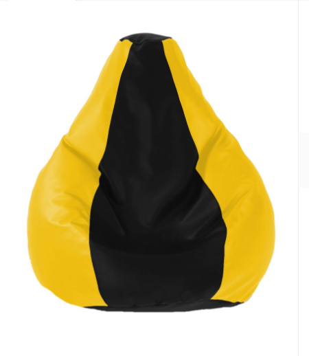 UK Bean Bags Classic Bean Bag Cover Large Size   L Size     Yellow / Black