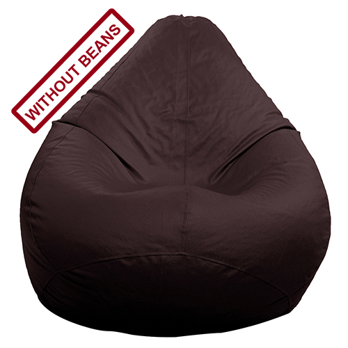StyleCo XL size Modern CLassic Bean Bag   Cover  Without Beans    Dark Brown