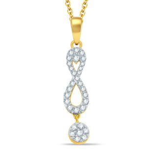 Pure Gold Jewellers 18kt Yellow gold Illusion Pendant with 31pcs of 0.54cts Diamonds