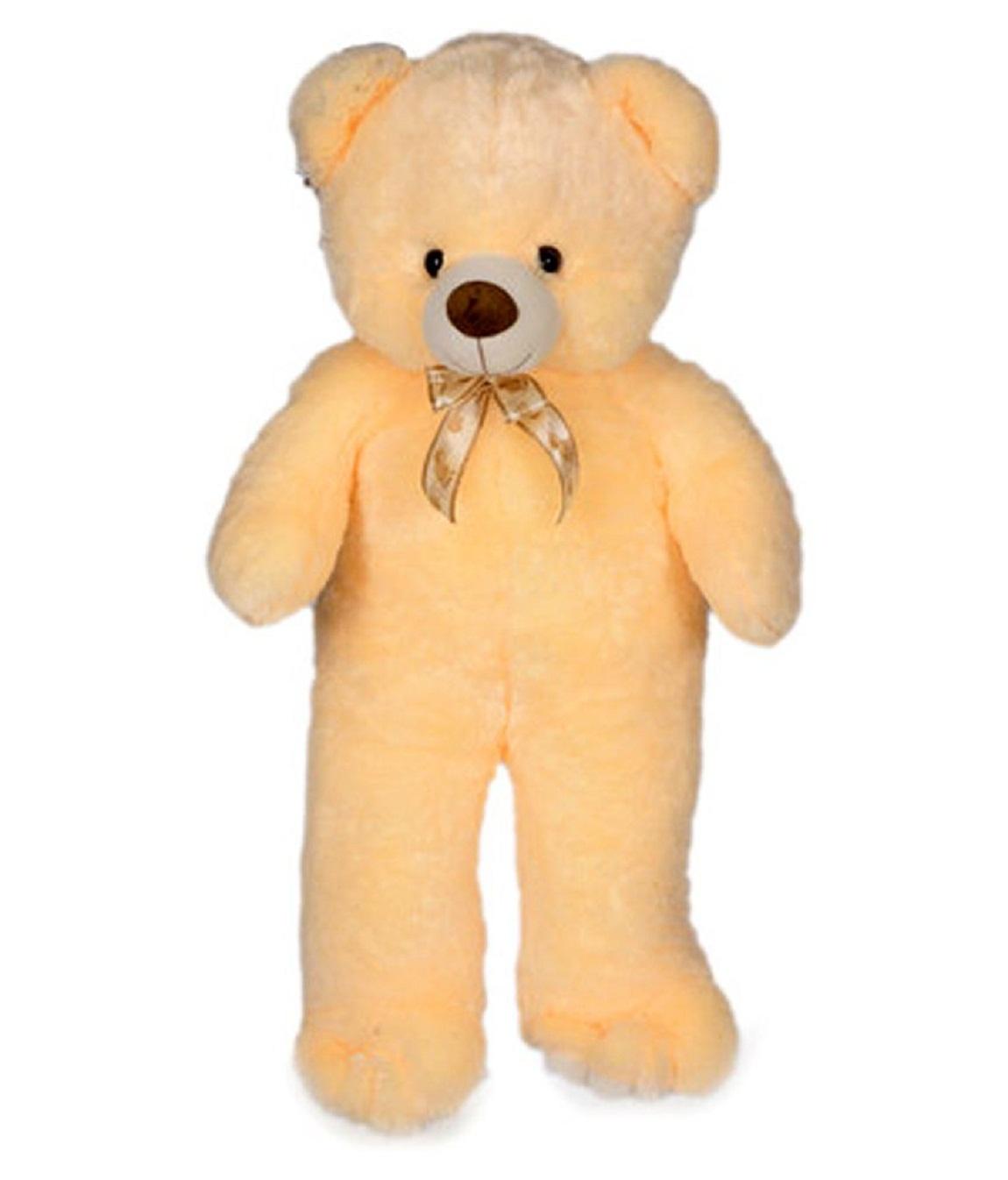 stuffed toy 3 feet soft and cute teddy bear   Cream