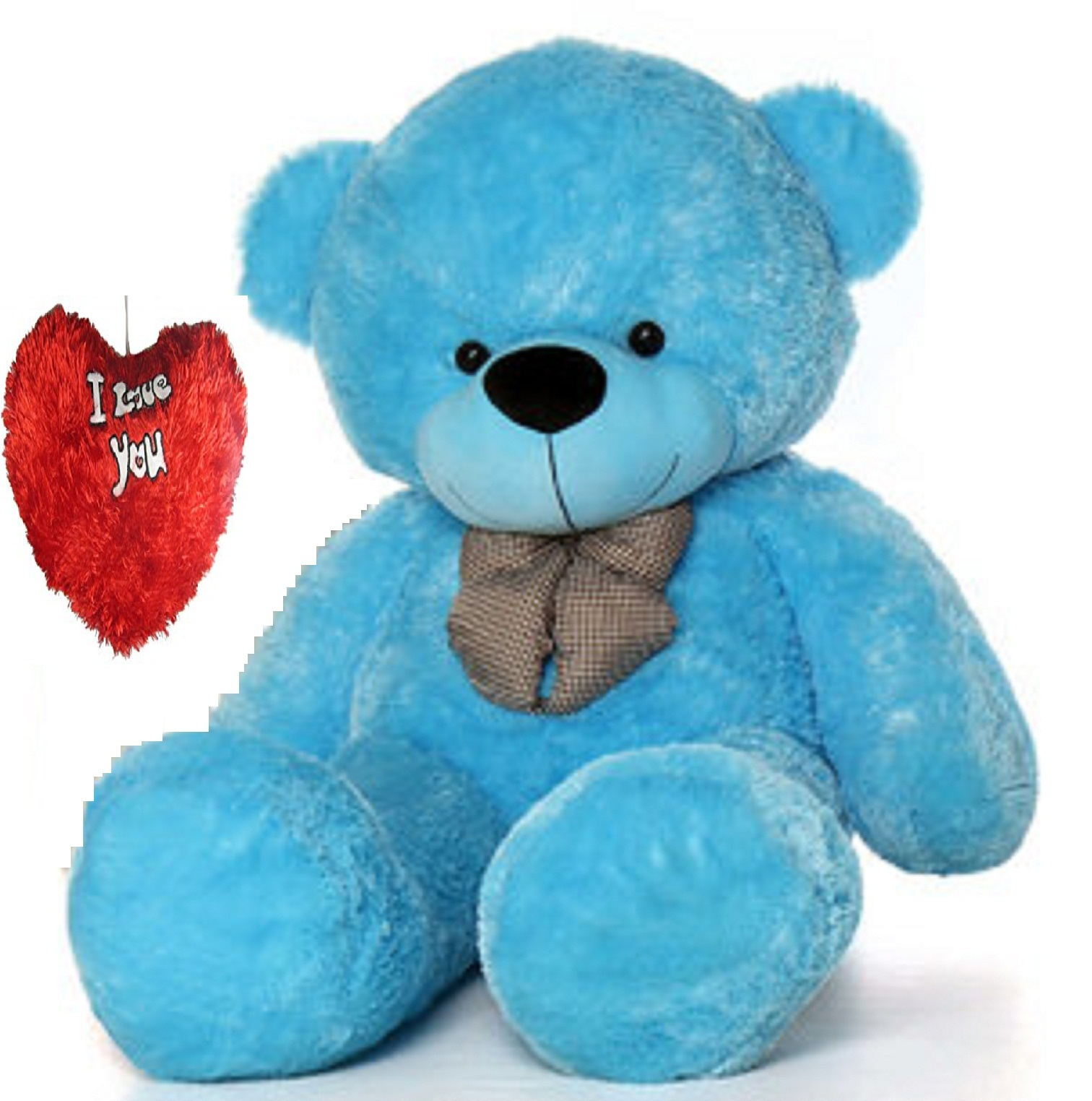 stuffed toy 4 feet soft and cute teddy bear   Blue