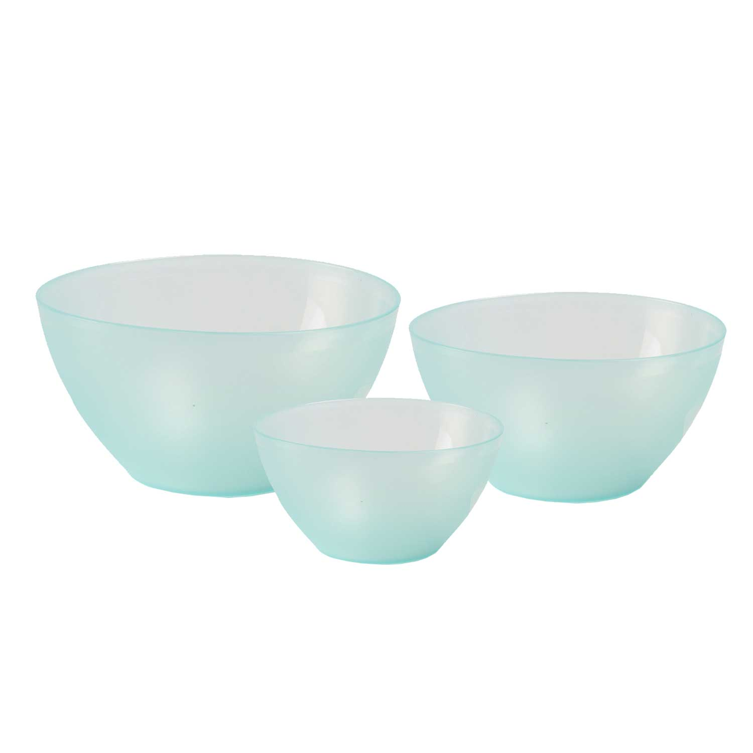 Incrizma Polypropylene Green Mixing Bowl Set of 3