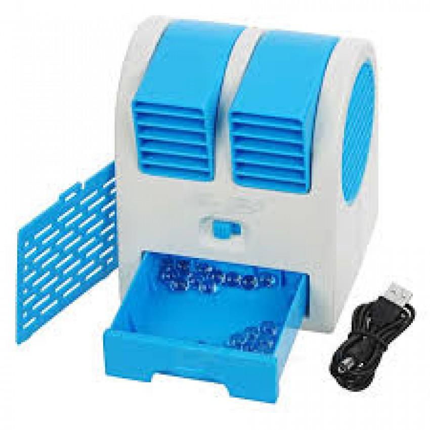 GAURAV MART Mini USB Cooling Fan Cooler Portable Desktop Dual Bladeless Air Conditioner USB Cooler  ASSORTED COLOURS