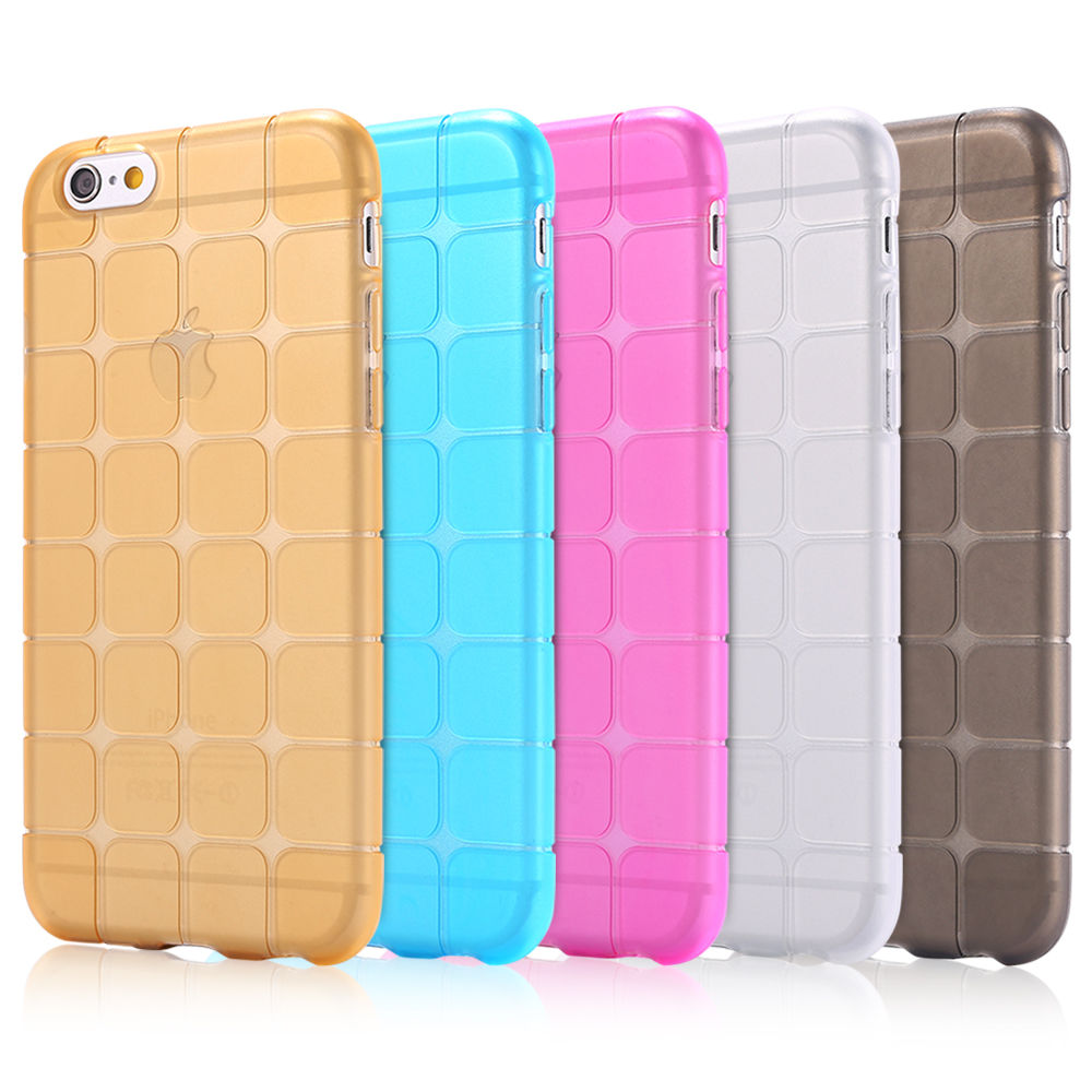 TPU/Rubber IceCube Design Transparent Back Cover for iphone 5/5s/5G