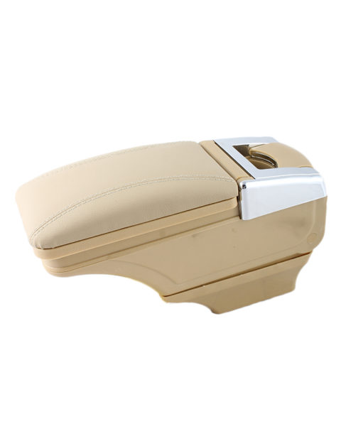 Beige Fancy Armrest with chrome design   Compatible with all kind of cars