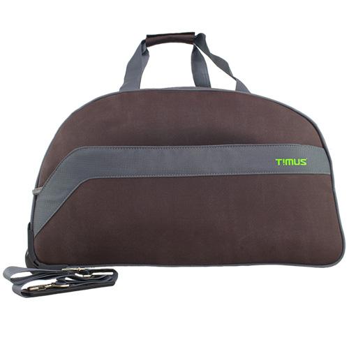 Timus BOLT 65 CM COFFEE 2 WHEEL DUFFLE FOR TRAVEL   CHECK IN LUGGAGE Duffel Strolley Bag  Coffee