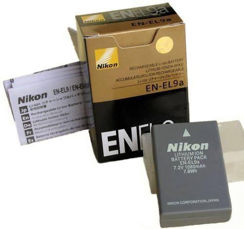 EN EL9a Battery For Nikon DSLR D40 D40x D60 D3000 D5000 Kit camera 1080 mAh