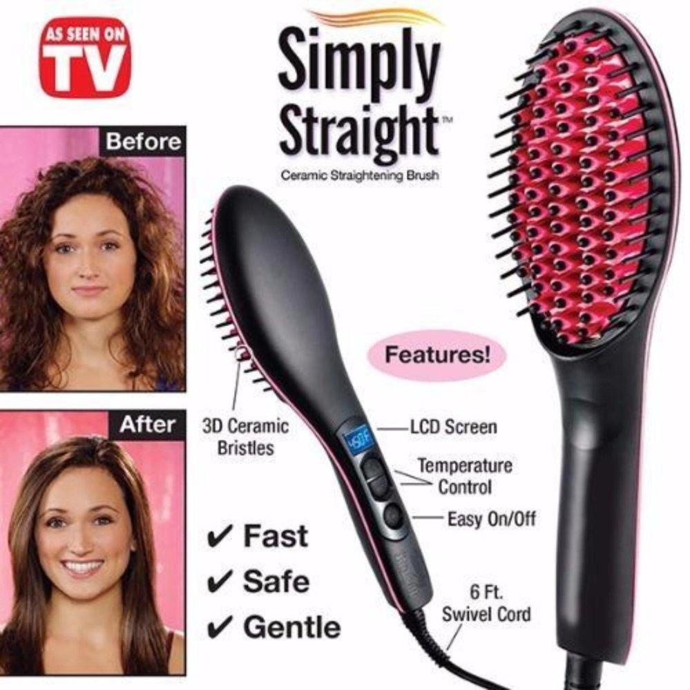 SIMPLY STRAIGHT HQT 906 Digital Display With Temperature Ceramic Hair Straightener Brush