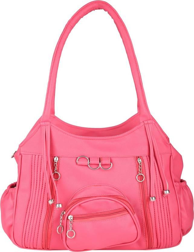 Tarshi Pu Pink Shoulder Bag For Women