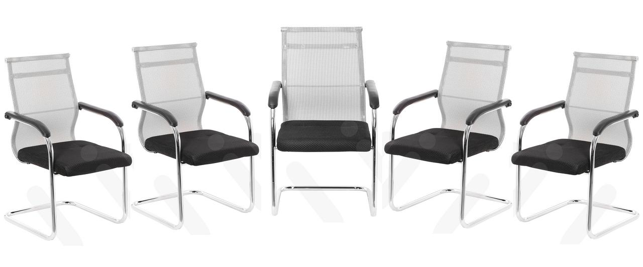 VJ INTERIOR OFFICE VISITOR CHAIR SET OF 5