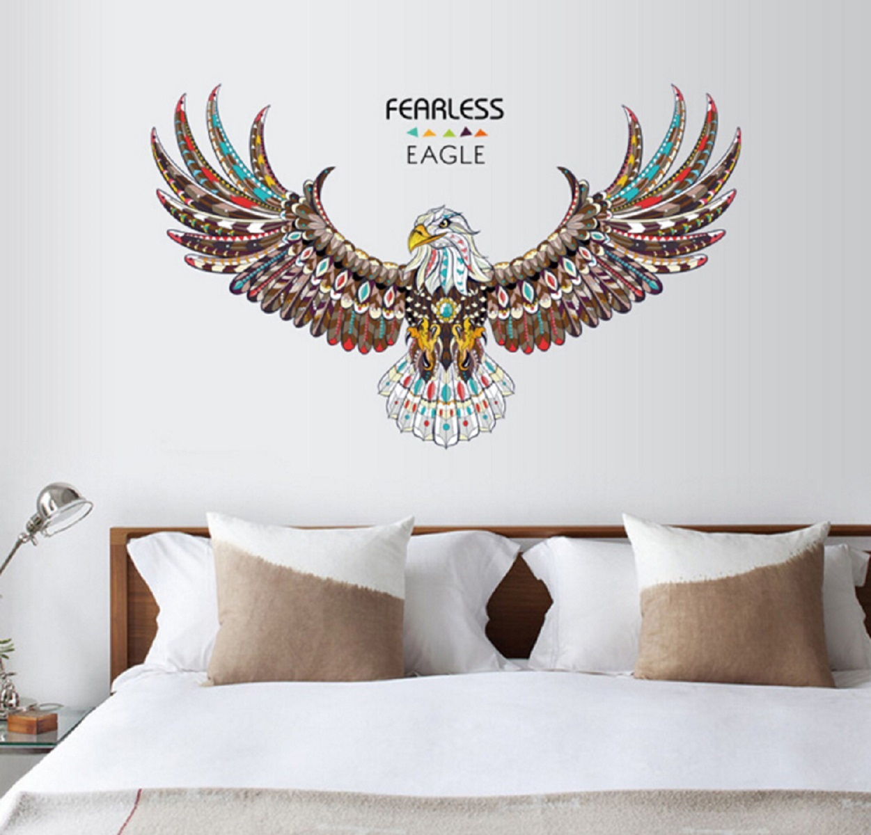 Jaamso Royals \' new eagle wings large wall stickers \' Wall Sticker  PVC Vinyl, 90 cm X 60 cm, Decorative Stickers