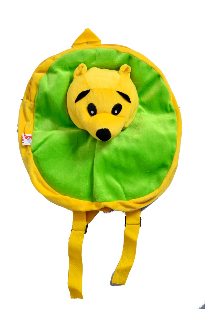 Angel Soft Toys Cute Soft Toy Play School Bag for Kids/Picnic Bag in Wonderful Colours With a Cute Bear on Bag.
